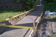 Side walk construction